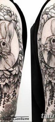 фото тату заяц от 02.09.2017 №095 – tatoos hare – tatufoto.com
