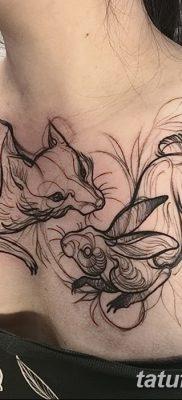 фото тату заяц от 02.09.2017 №118 – tatoos hare – tatufoto.com