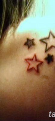 фото тату звезды на плечах от 19.09.2017 №003 – tattoo of a star on the shoul – tatufoto.com