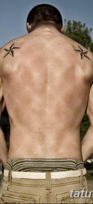фото тату звезды на плечах от 19.09.2017 №005 – tattoo of a star on the shoul – tatufoto.com