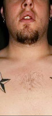 фото тату звезды на плечах от 19.09.2017 №011 – tattoo of a star on the shoul – tatufoto.com
