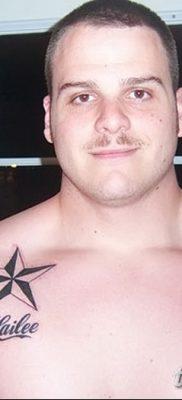 фото тату звезды на плечах от 19.09.2017 №017 – tattoo of a star on the shoul – tatufoto.com