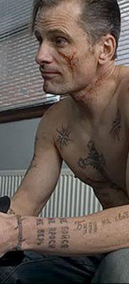 фото тату звезды на плечах от 19.09.2017 №019 – tattoo of a star on the shoul – tatufoto.com