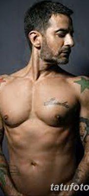фото тату звезды на плечах от 19.09.2017 №026 – tattoo of a star on the shoul – tatufoto.com