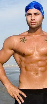 фото тату звезды на плечах от 19.09.2017 №040 – tattoo of a star on the shoul – tatufoto.com