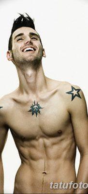 фото тату звезды на плечах от 19.09.2017 №044 – tattoo of a star on the shoul – tatufoto.com 1234542561