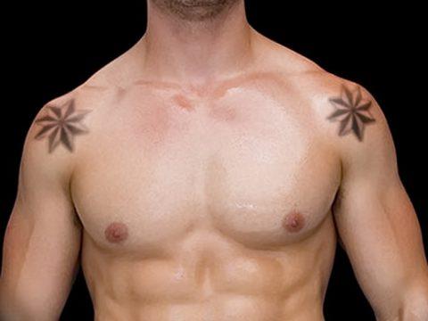 фото тату звезды на плечах от 19.09.2017 №047 - tattoo of a star on the shoul - tatufoto.com