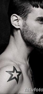 фото тату звезды на плечах от 19.09.2017 №050 – tattoo of a star on the shoul – tatufoto.com