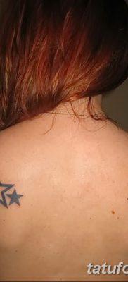 фото тату звезды на плечах от 19.09.2017 №054 – tattoo of a star on the shoul – tatufoto.com
