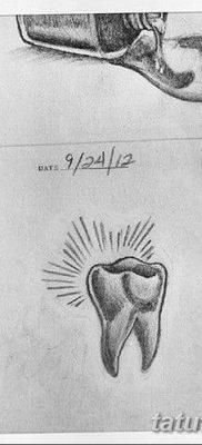 фото тату зуб от 13.09.2017 №021 – tattoo tooth – tatufoto.com