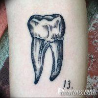 Значение тату зуб
