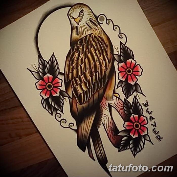 фото тату коршун птица от 12.09.2017 №040 - tattoo kite bird - tatufoto.com