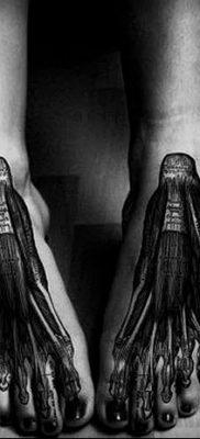фото тату кости от 23.09.2017 №042 – bone tattoo – tatufoto.com