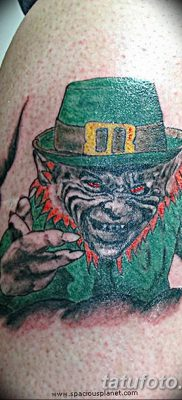 фото тату лепрекон от 15.09.2017 №006 – tattoo leprechaun – tatufoto.com