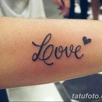 Значение тату любовь