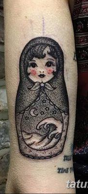 фото тату матрешка от 14.09.2017 №112 – Matryoshka tattoo – tatufoto.com