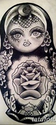 фото тату матрешка от 14.09.2017 №115 – Matryoshka tattoo – tatufoto.com