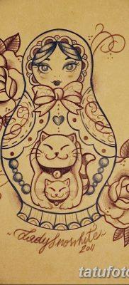 фото тату матрешка от 14.09.2017 №128 – Matryoshka tattoo – tatufoto.com