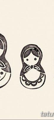 фото тату матрешка от 14.09.2017 №130 – Matryoshka tattoo – tatufoto.com