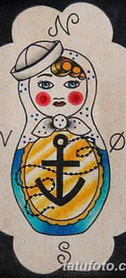 фото тату матрешка от 14.09.2017 №168 – Matryoshka tattoo – tatufoto.com