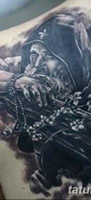 фото тату монах в капюшоне от 16.09.2017 №003 – tattoo monk in the hood – tatufoto.com