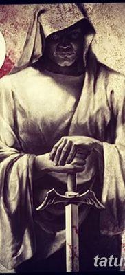 фото тату монах в капюшоне от 16.09.2017 №011 – tattoo monk in the hood – tatufoto.com