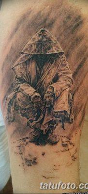 фото тату монах в капюшоне от 16.09.2017 №012 – tattoo monk in the hood – tatufoto.com