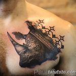 фото тату носорог от 29.09.2017 №001 - rhino tattoo - tatufoto.com