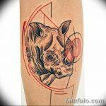 фото тату носорог от 29.09.2017 №003 - rhino tattoo - tatufoto.com
