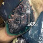фото тату носорог от 29.09.2017 №004 - rhino tattoo - tatufoto.com