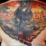 фото тату носорог от 29.09.2017 №012 - rhino tattoo - tatufoto.com