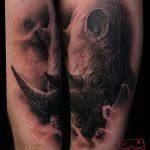 фото тату носорог от 29.09.2017 №014 - rhino tattoo - tatufoto.com