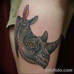 фото тату носорог от 29.09.2017 №015 - rhino tattoo - tatufoto.com