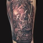 фото тату носорог от 29.09.2017 №016 - rhino tattoo - tatufoto.com