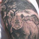 фото тату носорог от 29.09.2017 №021 - rhino tattoo - tatufoto.com