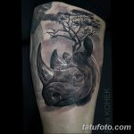 фото тату носорог от 29.09.2017 №023 - rhino tattoo - tatufoto.com