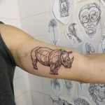 фото тату носорог от 29.09.2017 №028 - rhino tattoo - tatufoto.com