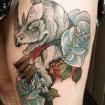 фото тату носорог от 29.09.2017 №029 - rhino tattoo - tatufoto.com