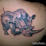 фото тату носорог от 29.09.2017 №031 - rhino tattoo - tatufoto.com