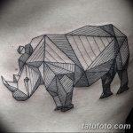 фото тату носорог от 29.09.2017 №037 - rhino tattoo - tatufoto.com