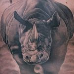 фото тату носорог от 29.09.2017 №046 - rhino tattoo - tatufoto.com