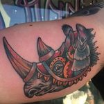 фото тату носорог от 29.09.2017 №050 - rhino tattoo - tatufoto.com