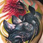 фото тату носорог от 29.09.2017 №051 - rhino tattoo - tatufoto.com