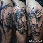 фото тату носорог от 29.09.2017 №055 - rhino tattoo - tatufoto.com