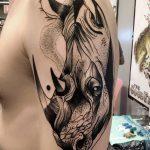 фото тату носорог от 29.09.2017 №057 - rhino tattoo - tatufoto.com