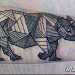 фото тату носорог от 29.09.2017 №065 - rhino tattoo - tatufoto.com