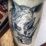 фото тату носорог от 29.09.2017 №066 - rhino tattoo - tatufoto.com