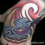 фото тату носорог от 29.09.2017 №073 - rhino tattoo - tatufoto.com