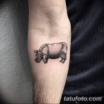фото тату носорог от 29.09.2017 №081 - rhino tattoo - tatufoto.com