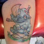 фото тату носорог от 29.09.2017 №089 - rhino tattoo - tatufoto.com